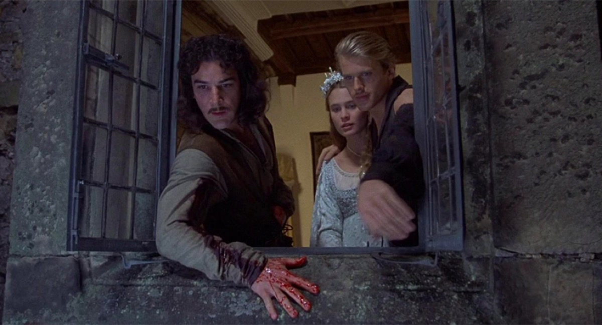 Mandy Patinkin, Robin Wright, and Cary Elwes in The Princess Bride