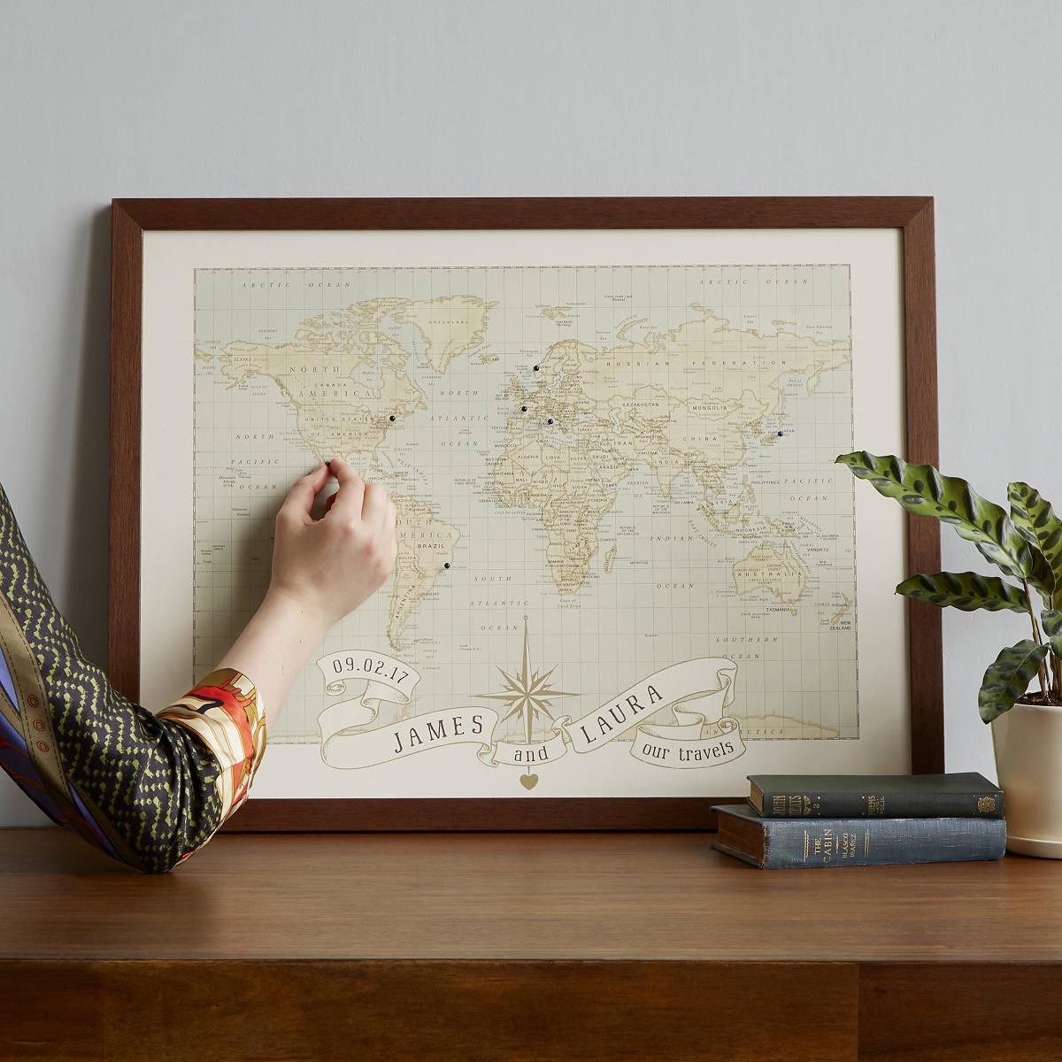 Pushpin anniversary map