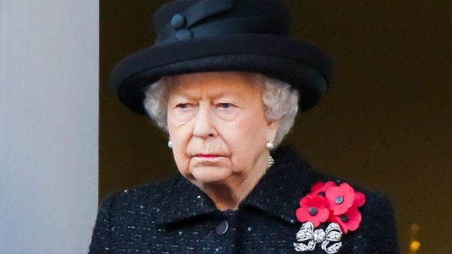 Queen Elizabeth II attends the annual Remembrance Sunday memorial at The Cenotaph, in Whitehall, London in Nov. 2019