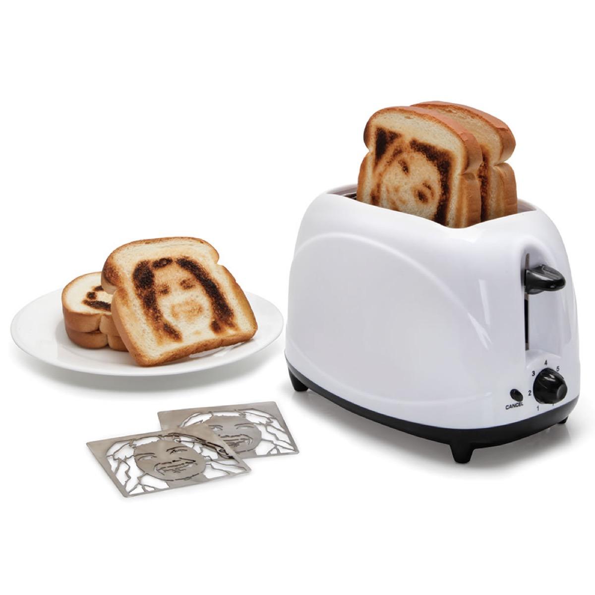 selfie toaster gag gift