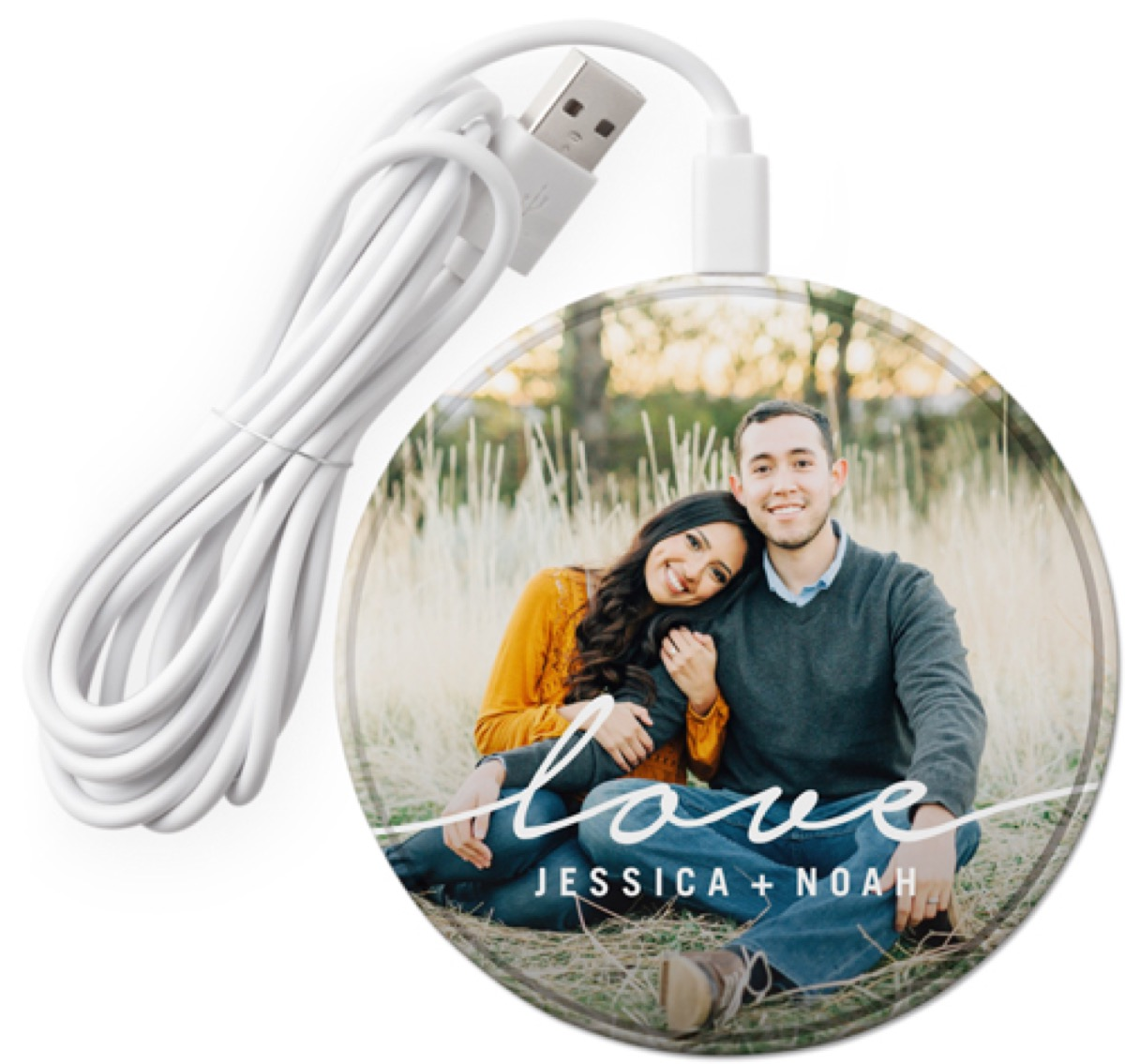 Shutterfly customized wireless phone charger