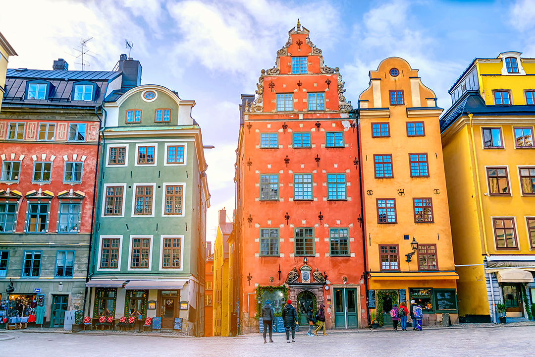 Stortorget square in Old Town (Gamla Stan) in Stockholm, the capital of Sweden