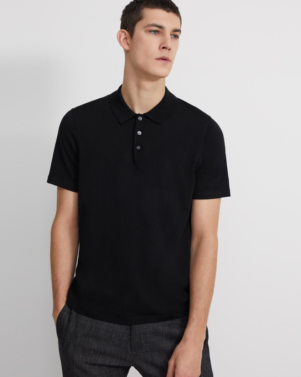 young man in black shirt