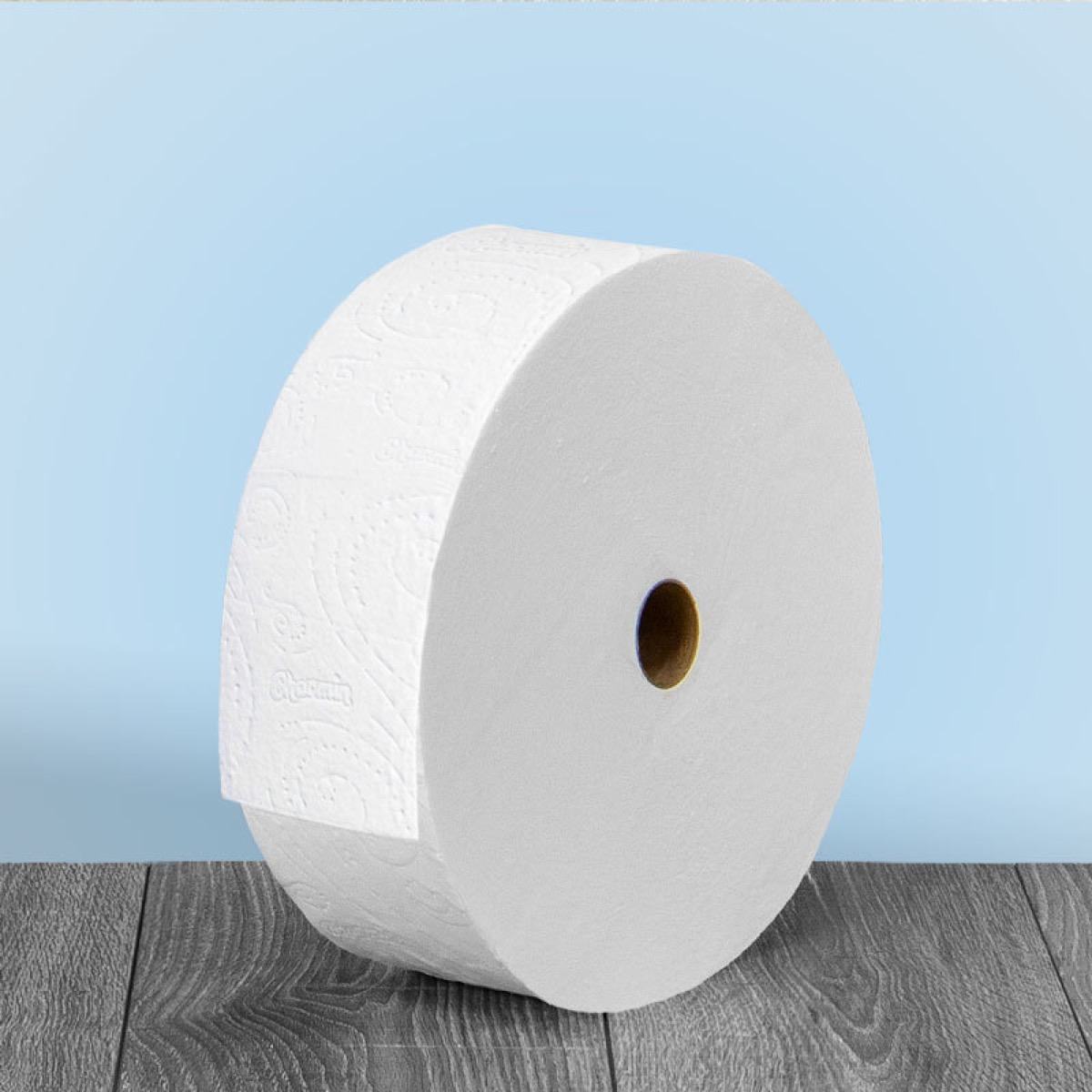 large roll of toilet paper
