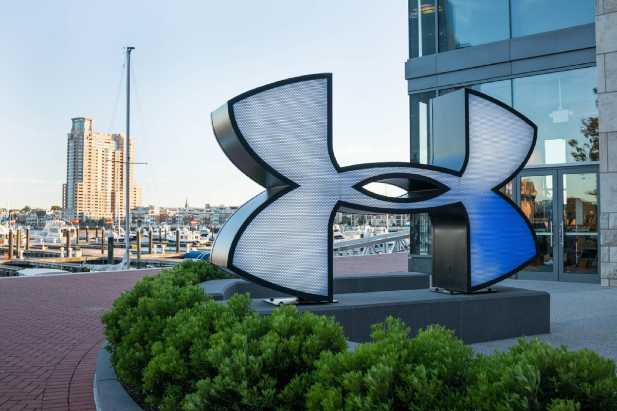 under armour logo in front of headquarters