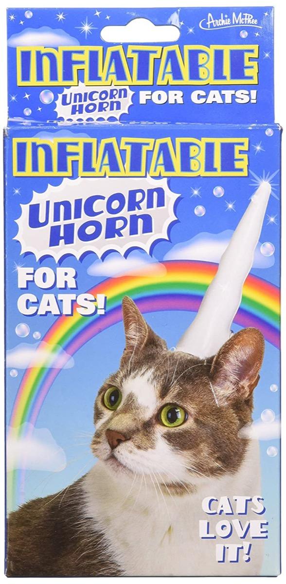 cat unicorn horn gag gift