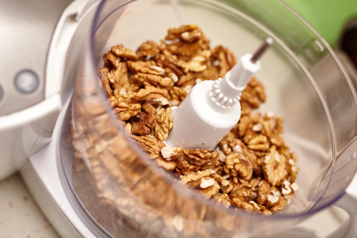 walnuts in a food processor