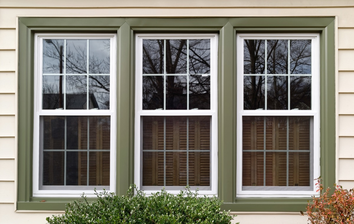 Energy efficient windows on house