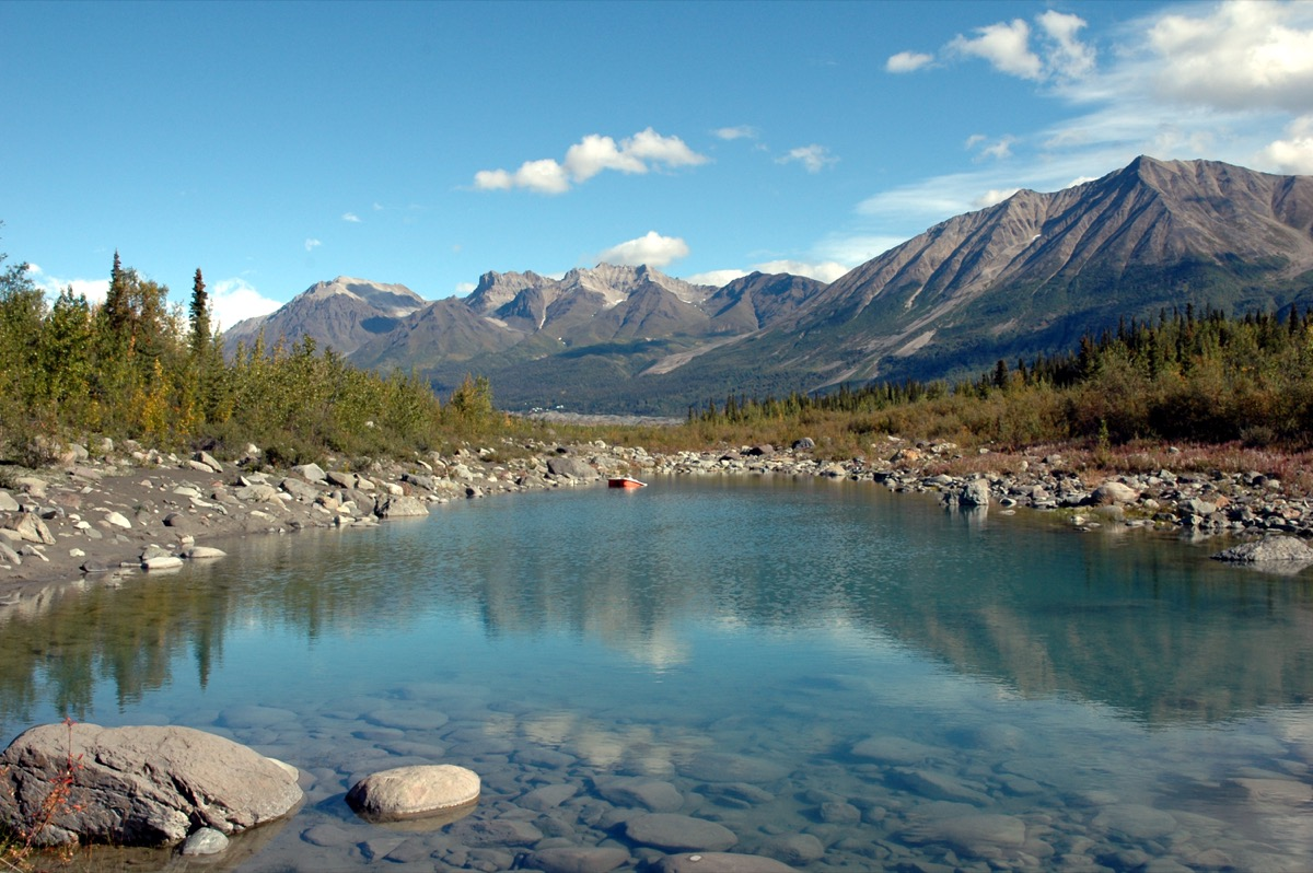 Scenery in the Wrangell- St Elias National Park,McCarthy,Alaska