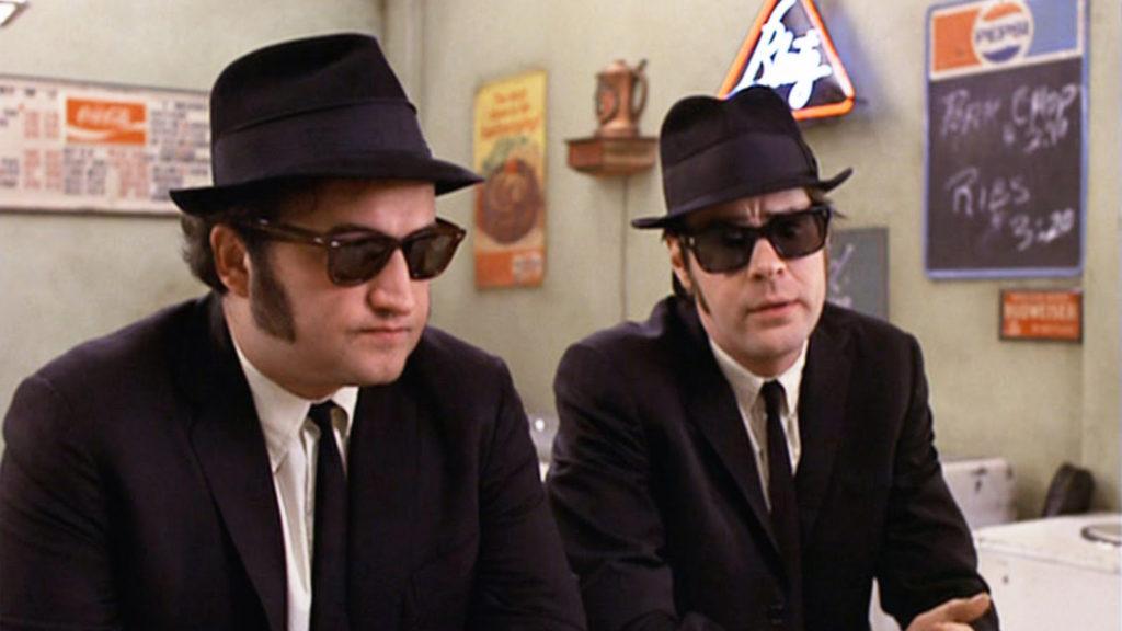 john belushi and dan aykroyd in the blues brothers