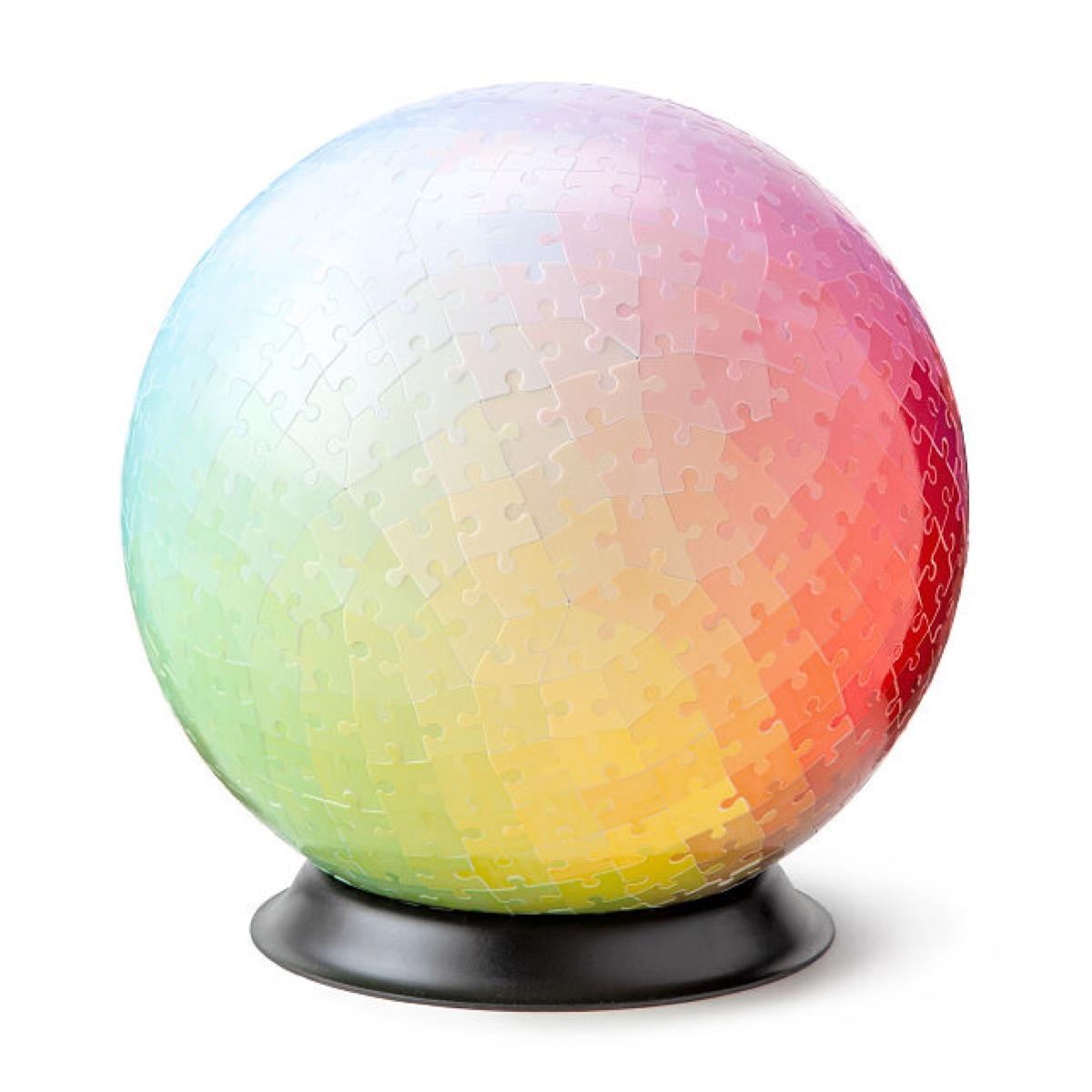 multicolored 3d orb puzzle