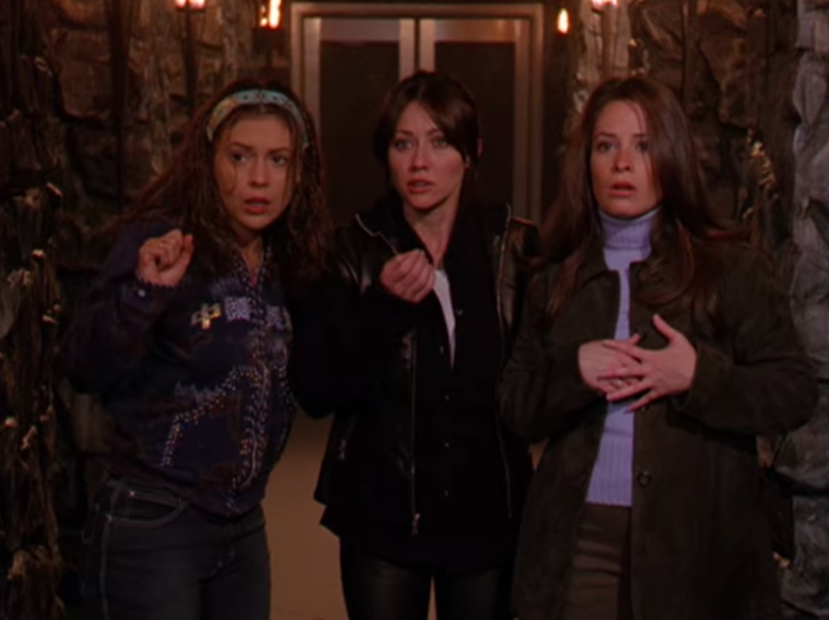 Alyssa Milano, Shannen Doherty, and Holly Marie Combs in Charmed