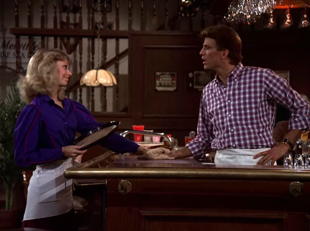 Shelley Long and Ted Danson in Cheers