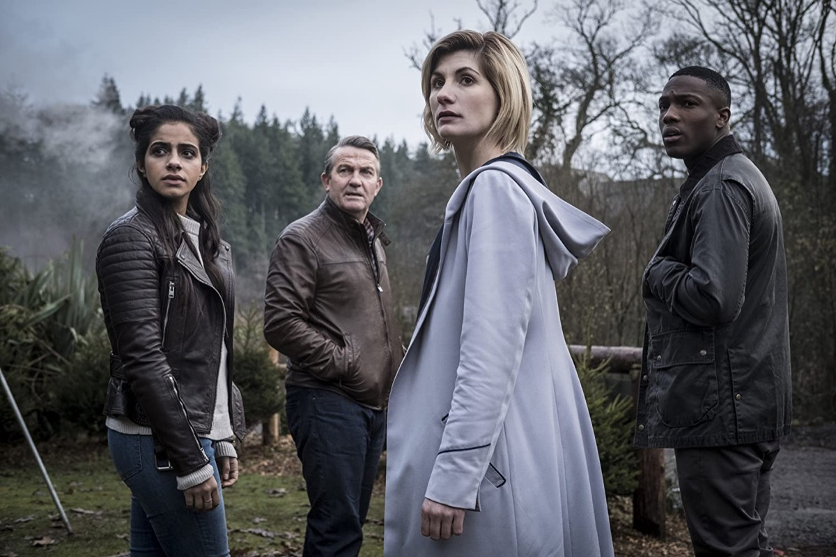 Mandip Gill, Bradley Walsh, Jodie Whittaker, and Tosin Cole in Doctor Who