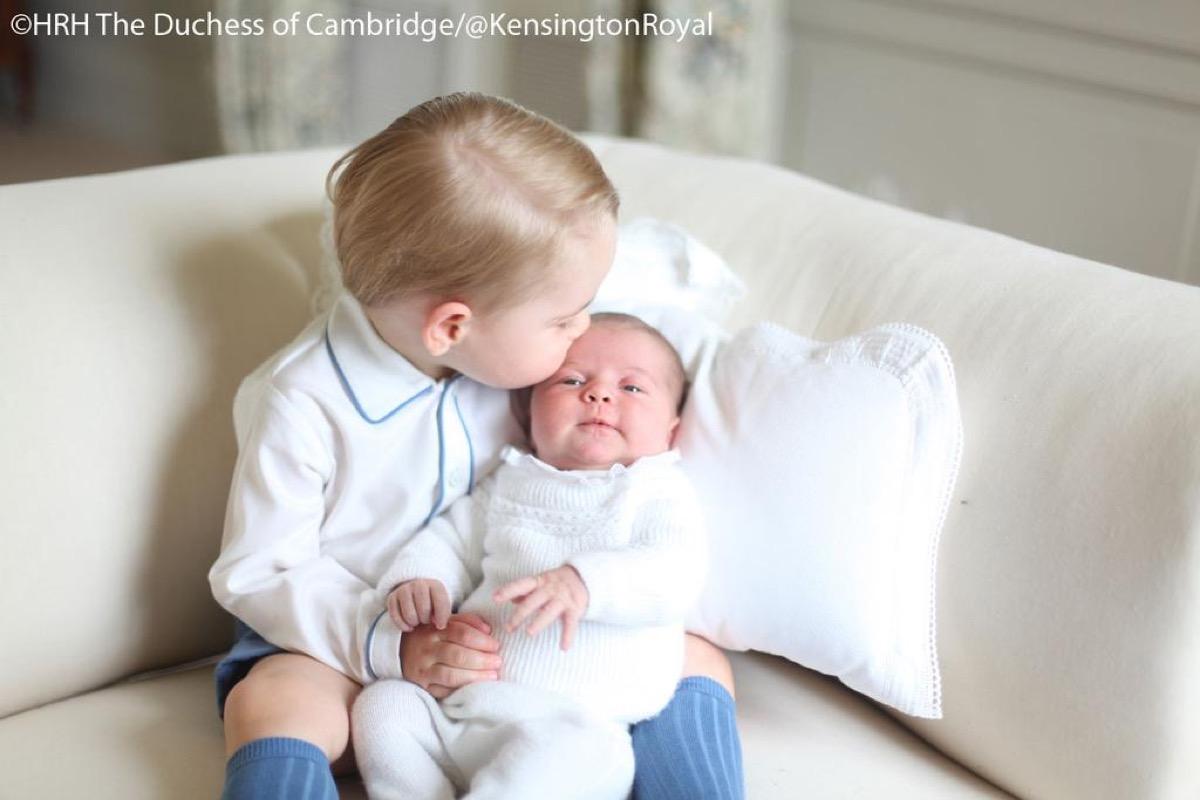 prince george kissing princess charlotte