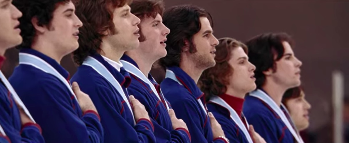 Medal ceremony scene in the movie Miracle