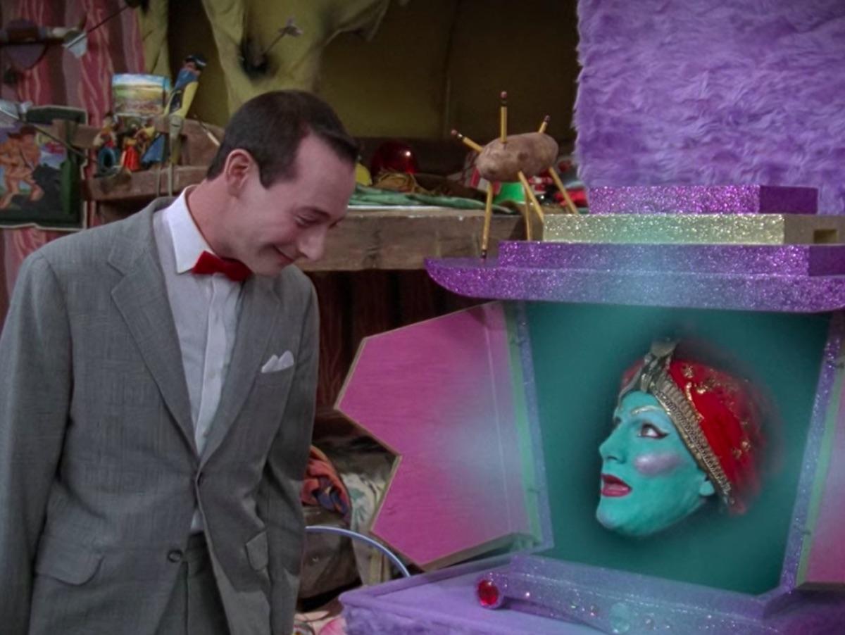 Paul Reubens and John Paragon in Pee-Wee's Playhouse