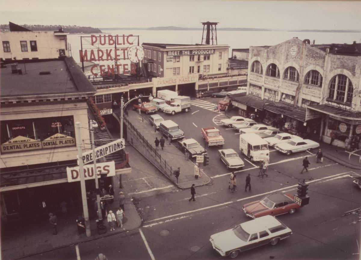 pike place market in seattle in 1972