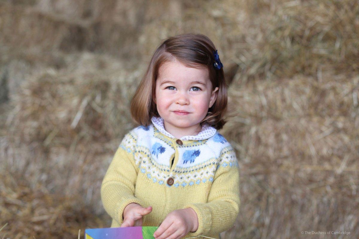princess charlotte on her second birthday