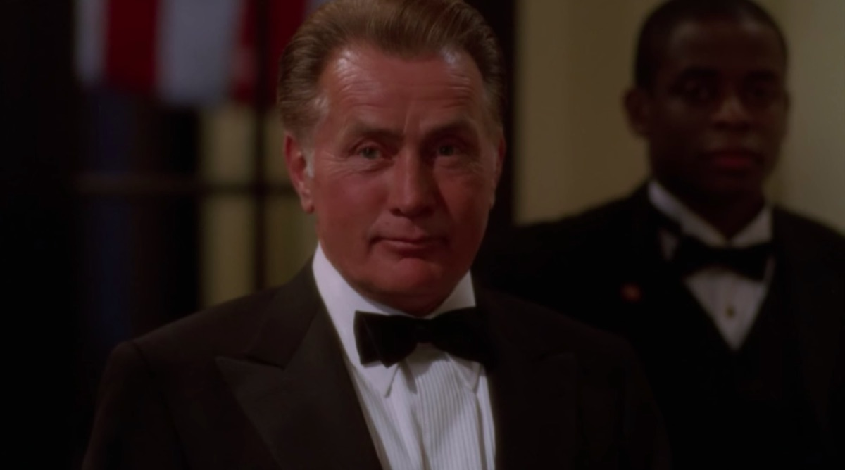 Martin Sheen and Dule Hill in The West Wing
