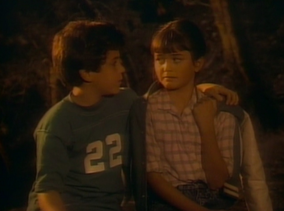 Fred Savage and Danica McKellar in The Wonder Years