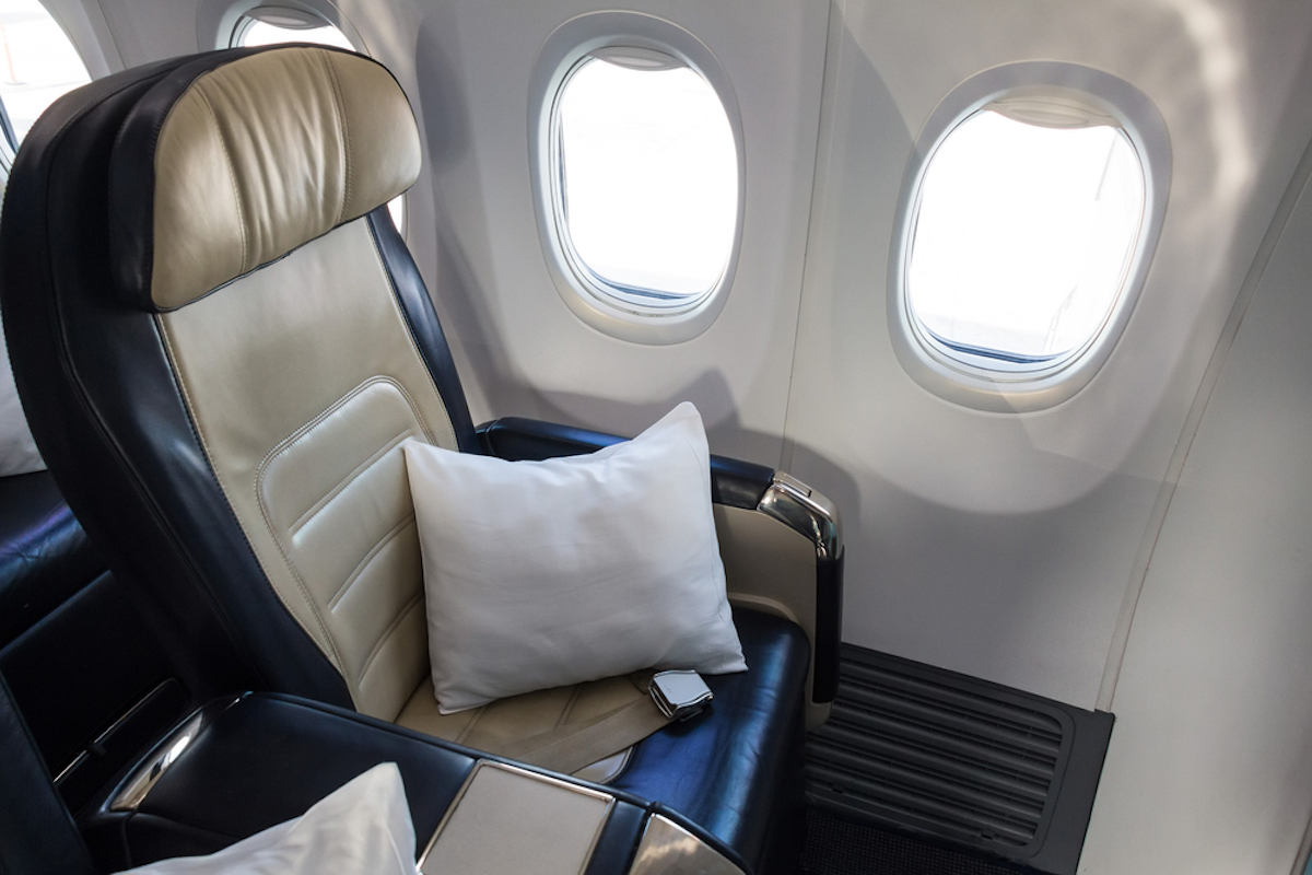 airplane pillow on seat