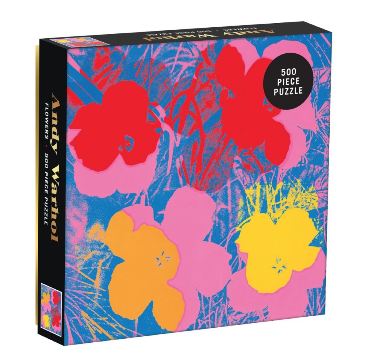 andy warhol flower puzzle box