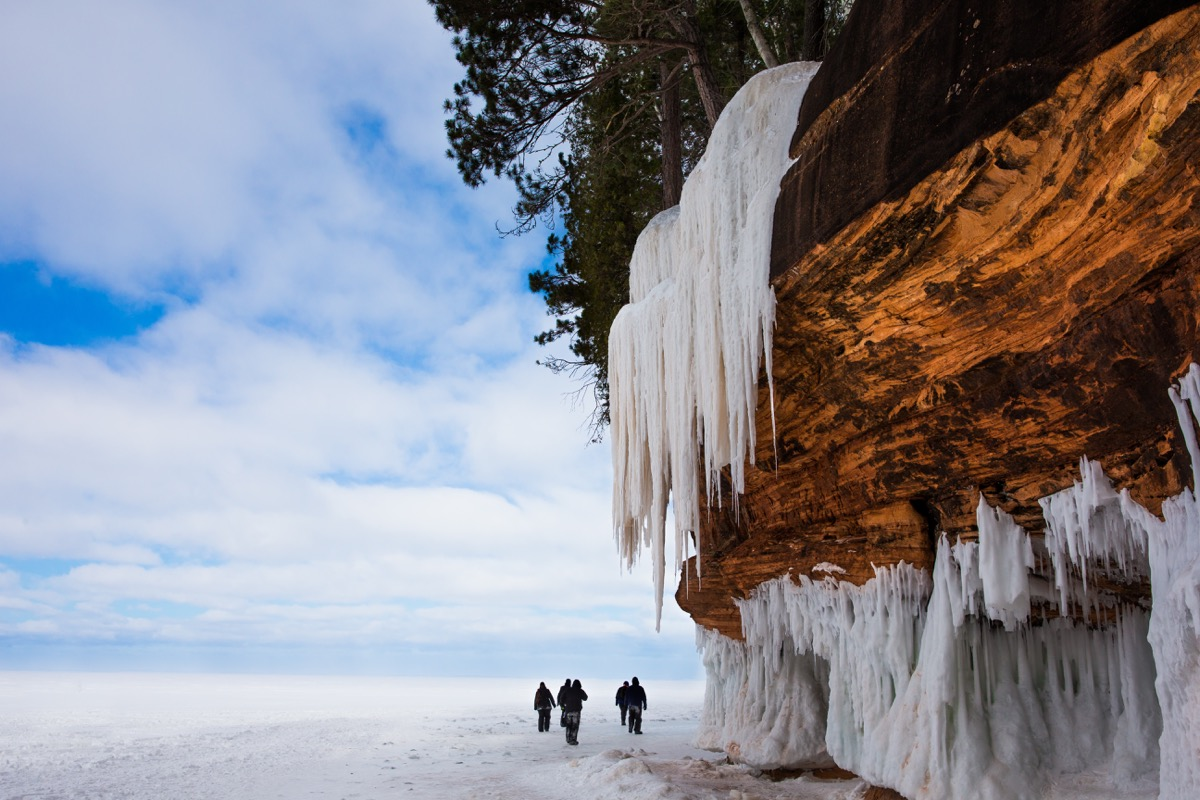 Apostle Islands National Lakeshore Ice Caves, Bayfield, Wisconsin