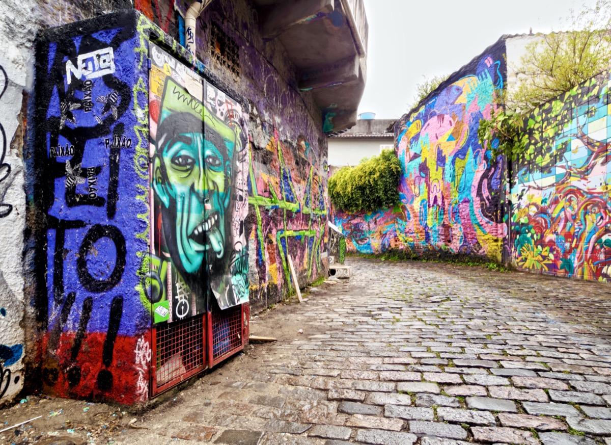 murals of batman alley in sao paulo brazil