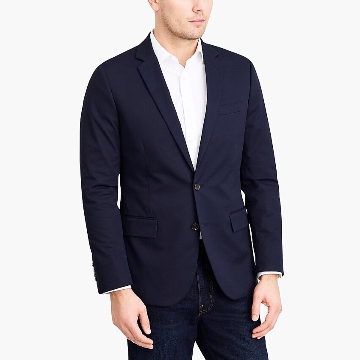 man in blue blazer