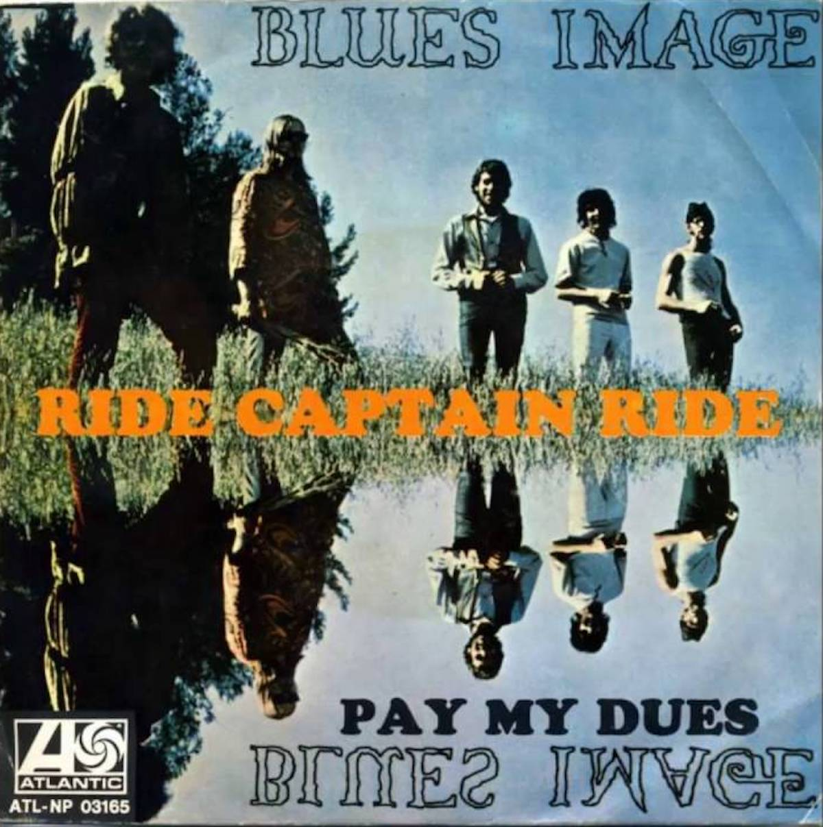 """album cover for blues image song """"ride captain ride"""""""