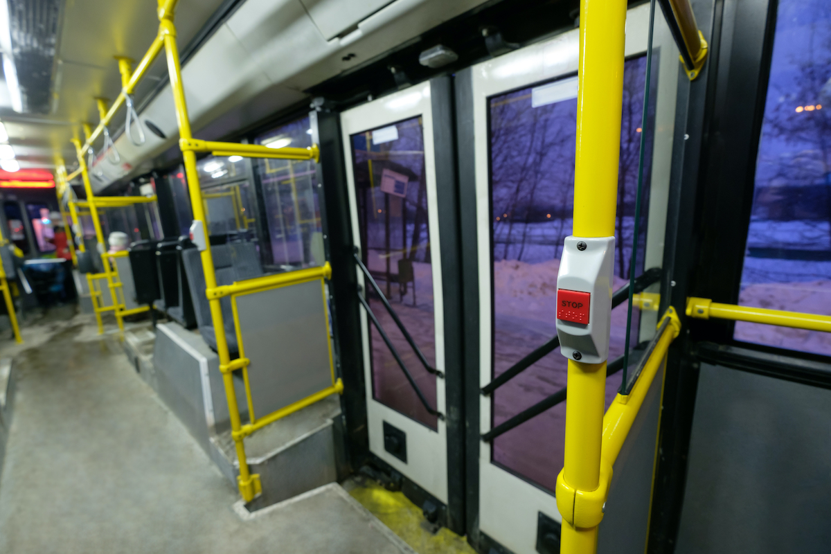 touch doors on bus