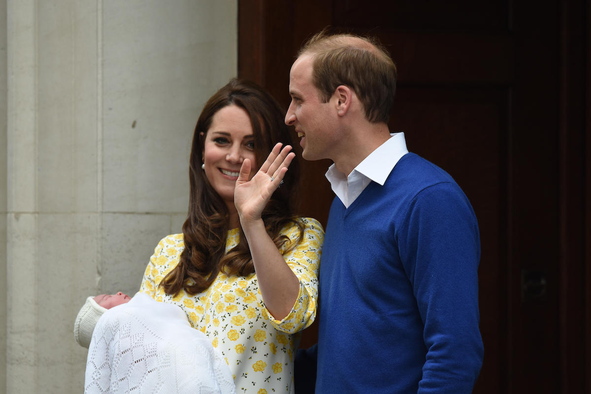 Prince William, The Duke of Cambridge and The Duchess of Cambridge leave St Mary's Hospital's Lindo Wing with their new-born daughter, Princess Charlotte, on Saturday May 2, 2015