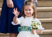 Princess Charlotte at the wedding of Princess Eugenie of York and Jack Brooksbank in Windsor