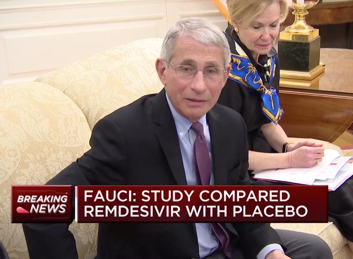 fauci talks about remdesivir in interview on april 29