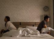 Couple fighting in bedroom