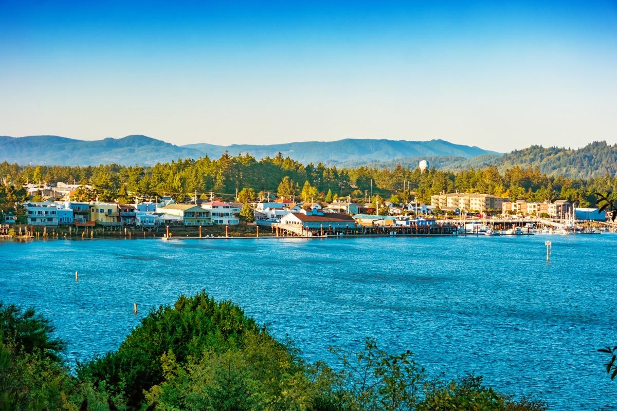 Florenece Oregon USA on a sunny day.