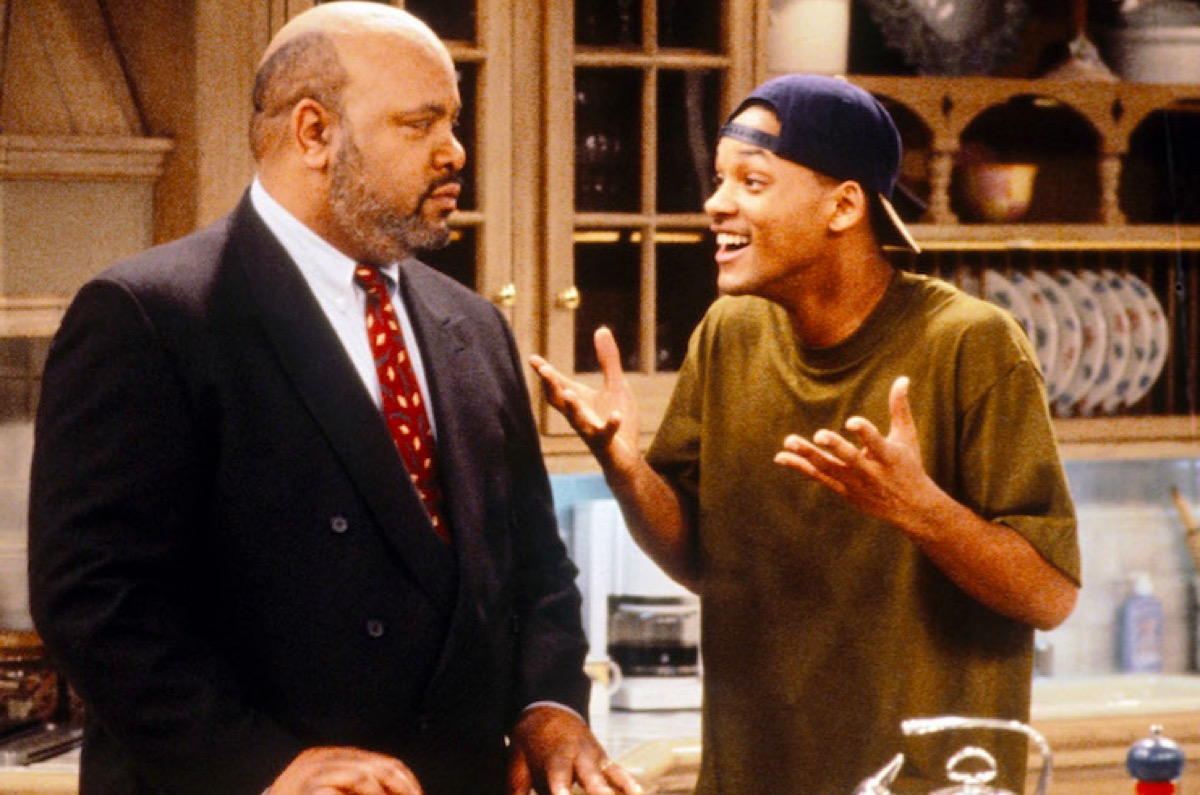 James Avery and Will Smith in The Fresh Prince of Bel-Air