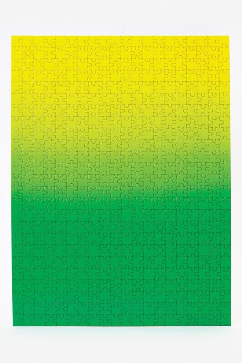 green gradient puzzle