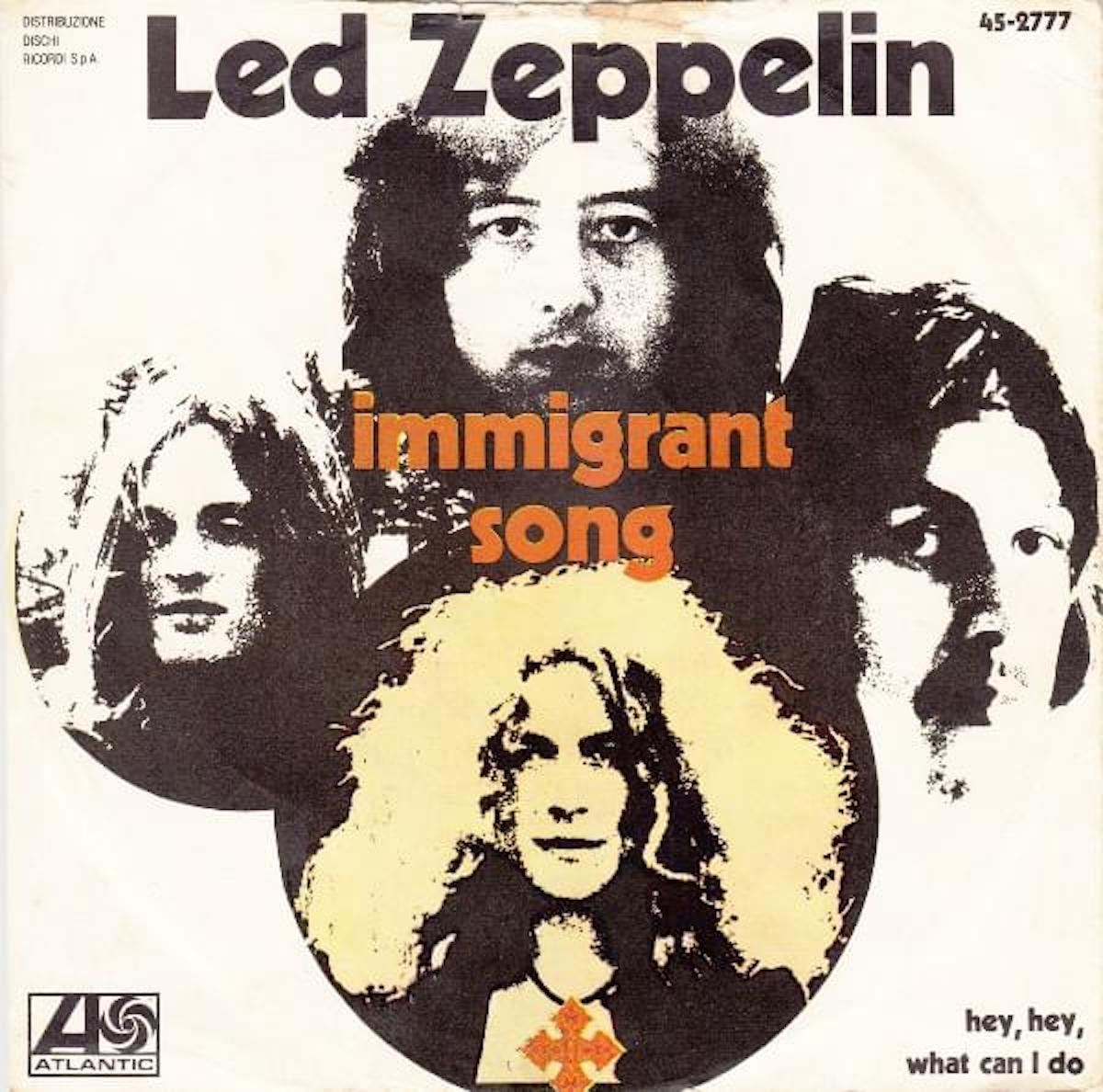 immigrant song album cover by led zeppelin