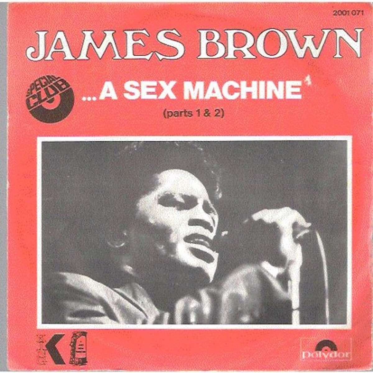 """james brown album cover for """"get up (I feel like being a) sex machine"""""""
