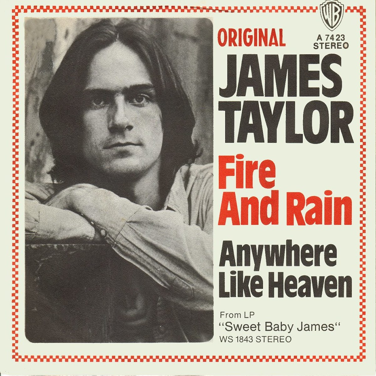 """album cover for james taylor's """"fire and rain"""""""