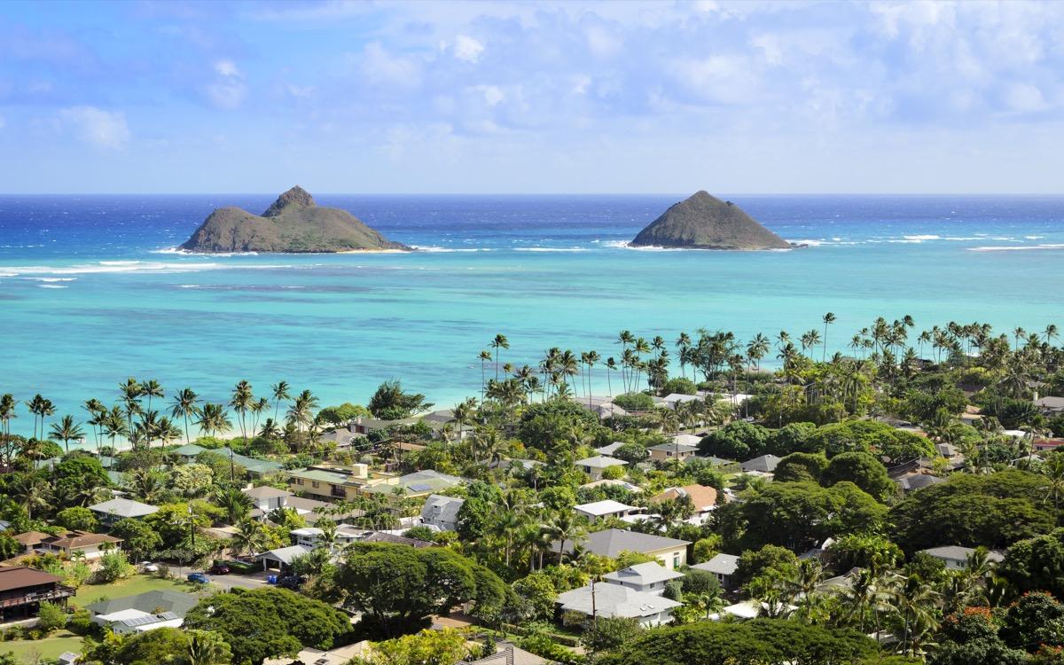 aerial view of Kailua Oahu