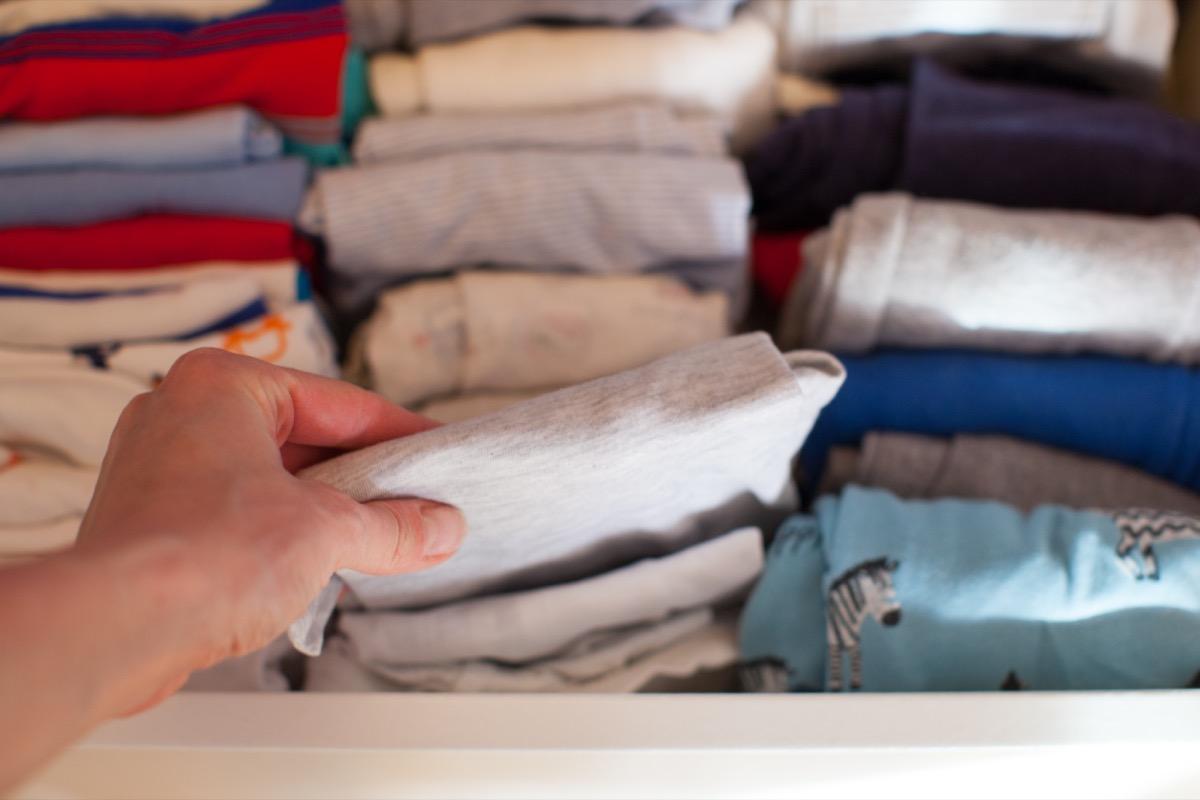 Marie Kondo folding technique