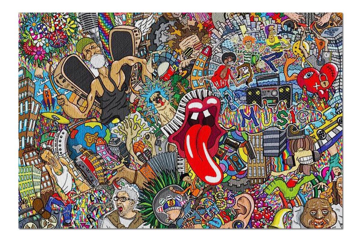 music collage puzzle