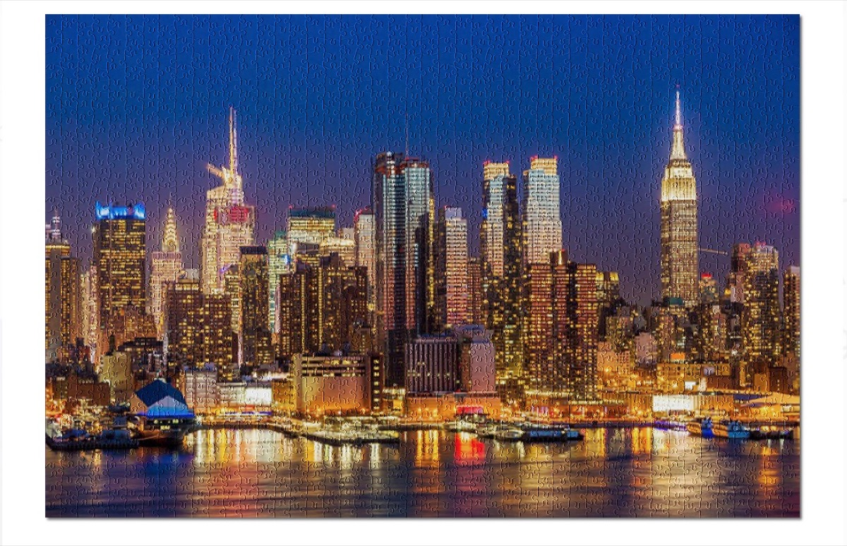 New York City skyline puzzle