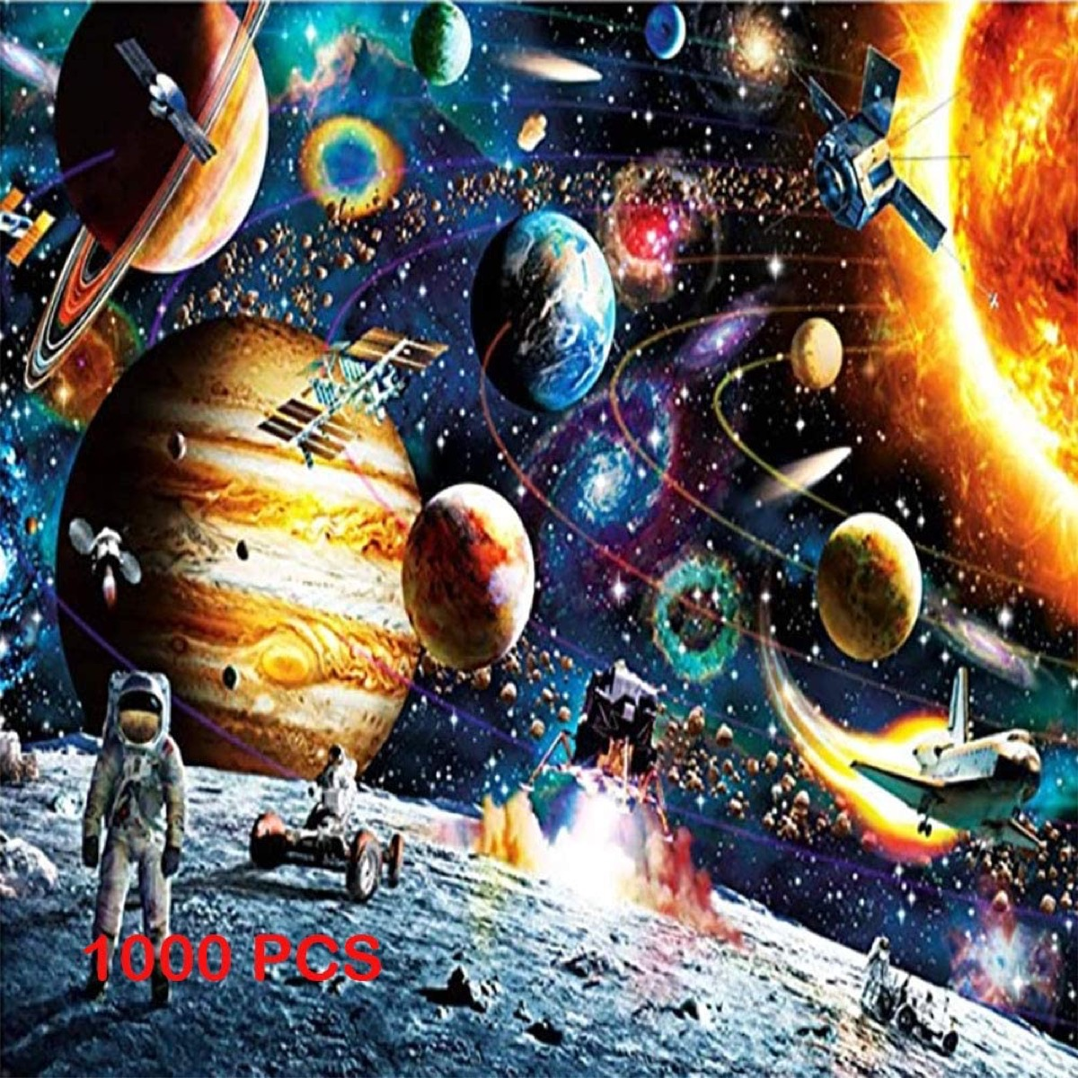 jigsaw puzzle with outer space theme