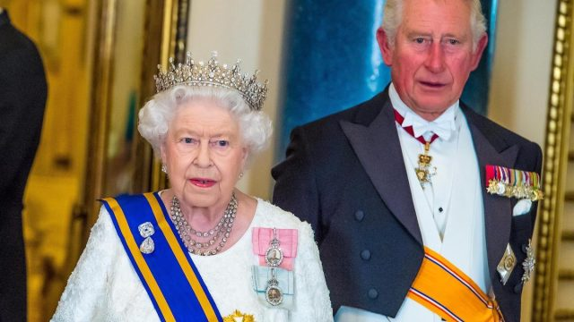 Prince Charles, Queen Elizabeth in Oct 2019