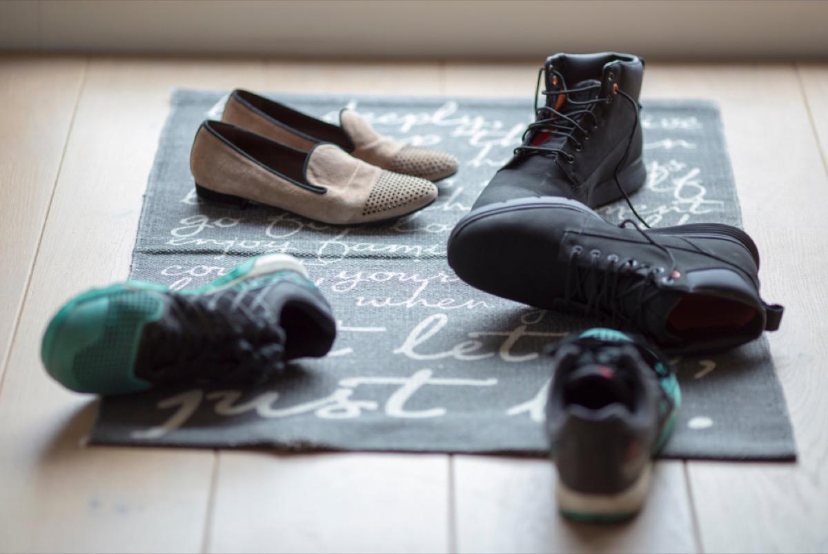 shoes on floor near front door