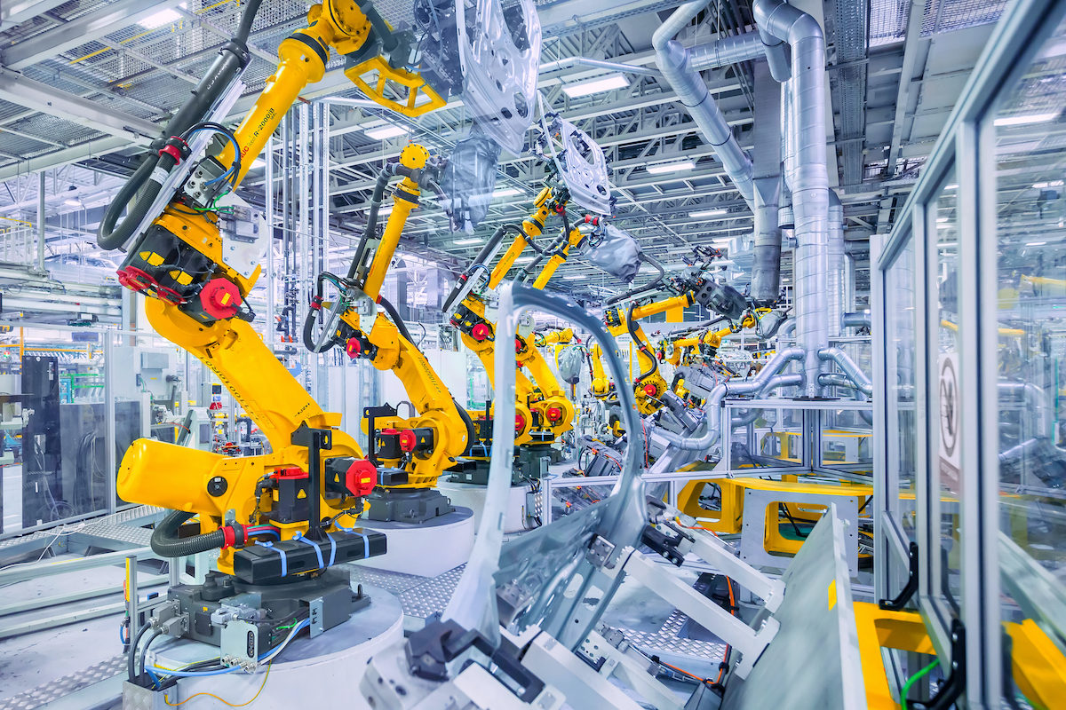 robots in manufacturing plant